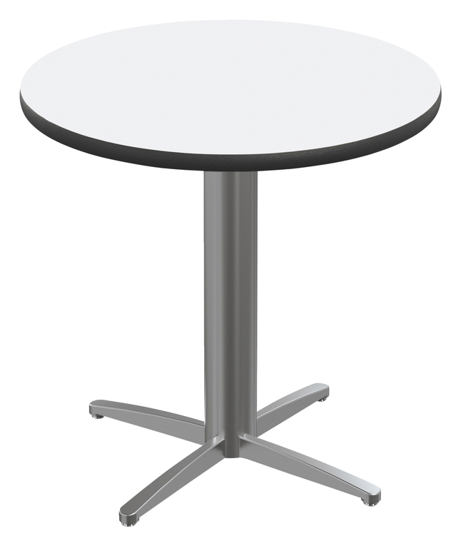Image for Classroom Select Round Top Café Table with X-Style Base, Markerboard Top, 40 Inches, Black LockEdge, Various Options from School Specialty