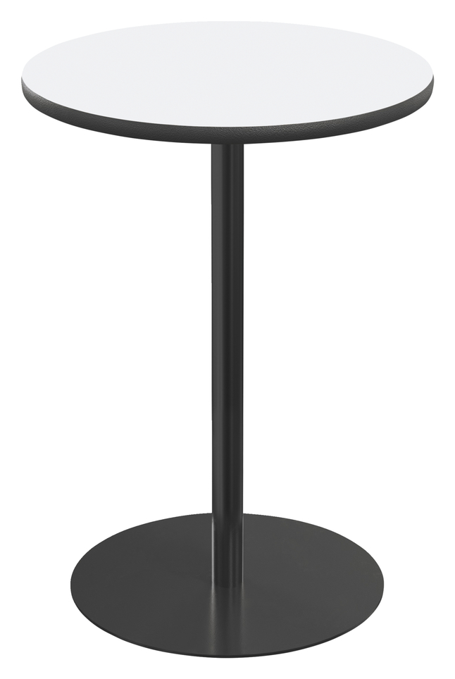 Image for Classroom Select Round Top Café Table with Round Base, Markerboard Top, 40 Inches, Black LockEdge, Various Options from School Specialty