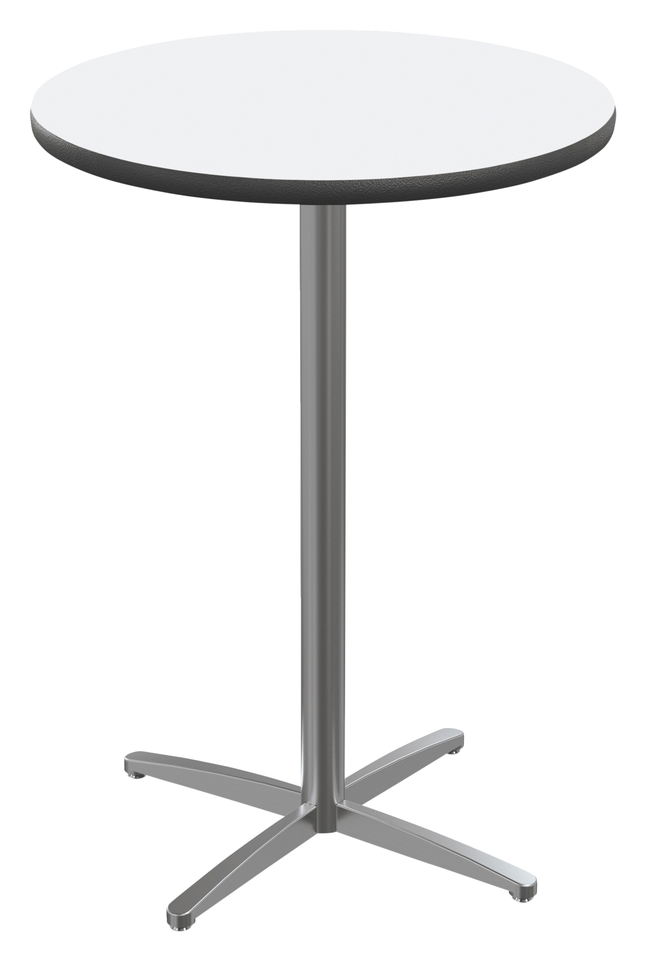 Image for Classroom Select Round Top Café Table with X-Style Base, Markerboard Top, 40 Inches, Black LockEdge, Variouls Options from School Specialty