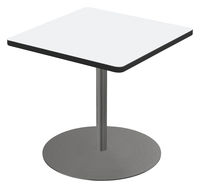Image for Classroom Select Square Top Café Table with Round Base, Markerboard Top, 24 Inches, T-Mold Edge, Various Options from School Specialty