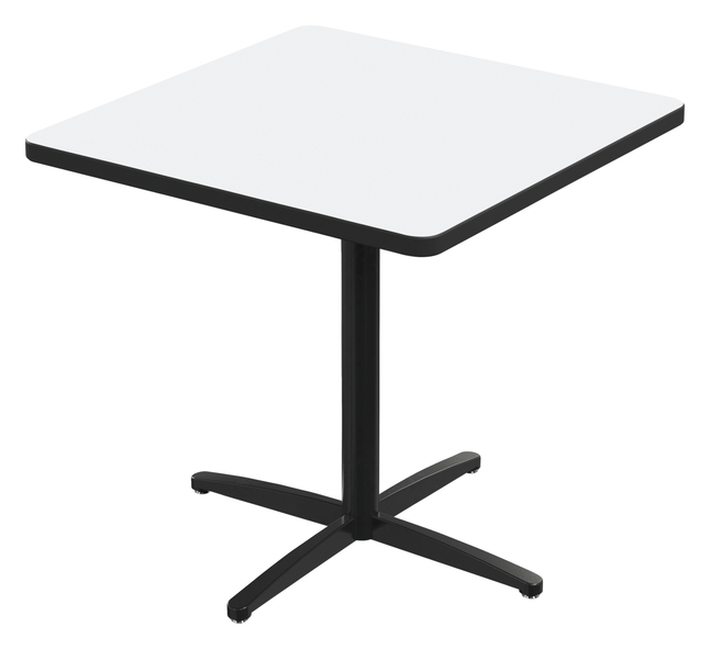 Image for Classroom Select Square Top Café Table with X-Style Base, Markerboard Top, 40 Inches, Black LockEdge, Various Options from School Specialty