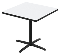 Image for Classroom Select Square Top Café Table with X-Style Base, Markerboard Top, 24 Inches, T-Mold Edge, Various Options from School Specialty