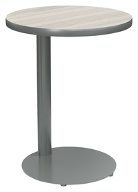 Image for Classroom Select Side Table, 20 Inch Round Top, Titanium Base, Various Options from School Specialty