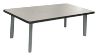 Image for Classroom Select Coffee Table, 48 W X 24 D Inches Rectangle Top, Titanium Base, Various Options from School Specialty