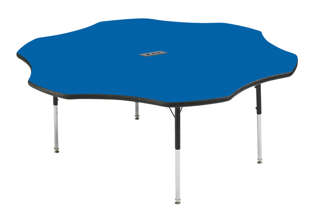 Image for Classroom Select Activity Table with Power, Adjustable Height, LockEdge, Flower, 60 Inches, Various Options. from School Specialty