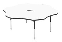 Image for Classroom Select Activity Table with Power, Adjustable Height, Markerboard, T-Mold, Flower, 60 Inches, Various Options from School Specialty