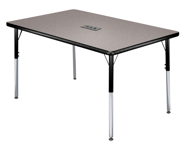 Image for Classroom Select Activity Table with Power, Adjustable Height, LockEdge, Rectangle, 30 x 60 Inches, Various Options. from School Specialty