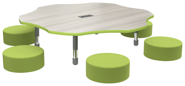 Image for Classroom Select Apollo Activity Table with Power, Adjustable Height, T-Mold, Flower, 60 Inches, Various Options from School Specialty