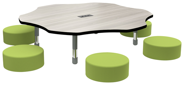 Image for Classroom Select Apollo Activity Table with Power, Adjustable Height, LockEdge, Flower, 60 Inches, Various Options from School Specialty
