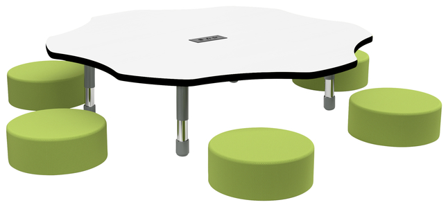 Image for Classroom Select Apollo Activity Table with Power, Adjustable Height, Markerboard, LockEdge, Flower, 60 Inches, Various Options from School Specialty