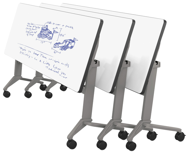 Image for Classroom Select Tilt-N-Nest Computer Table, Rectangle, 60 x 30 Inches, Markerboard T-Mold, Adjustable Height, Various Options from School Specialty