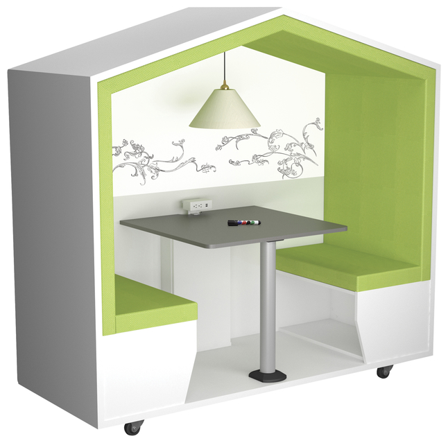Image for Classroom Select NeoDen with Whiteboard Wall, Unassembled, 79 W x 36 D x 77 H Inches, Various Options from School Specialty