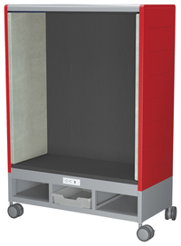 Image for Classroom Select Mini Geode Den with Power and Casters, 1 Color, 41 W x 19-1/4 D x 59-1/2 H Inches, Various Options from School Specialty