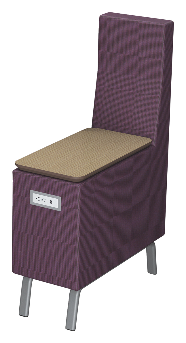 Image for Classroom Select NeoLink High Back Table with Power, 50 W x 14 D x 32 H Inches, Various Options from School Specialty