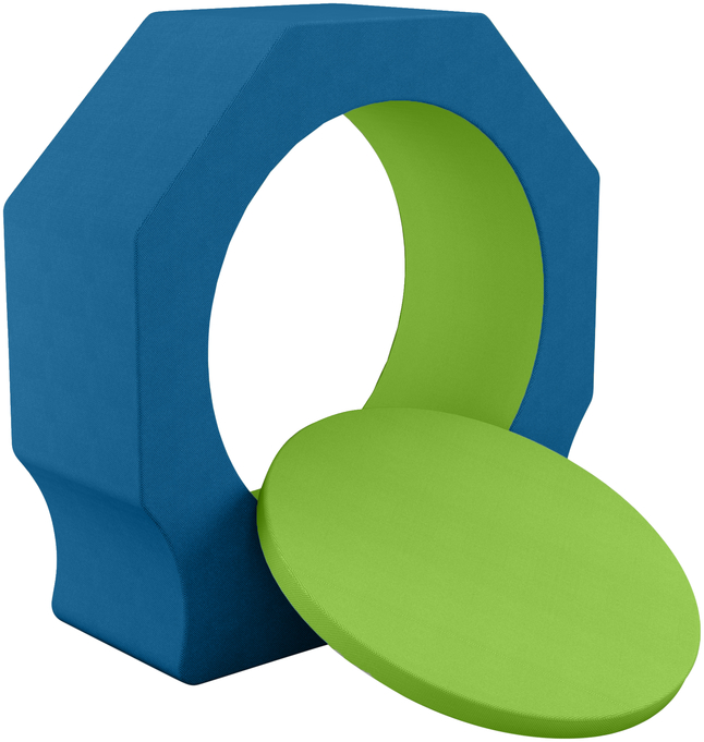 Image for Classroom Select NeoPod, Foam, Octagon, 1 Color, 64 W x 24 D x 65-1/2 H Inches, Various Options from School Specialty