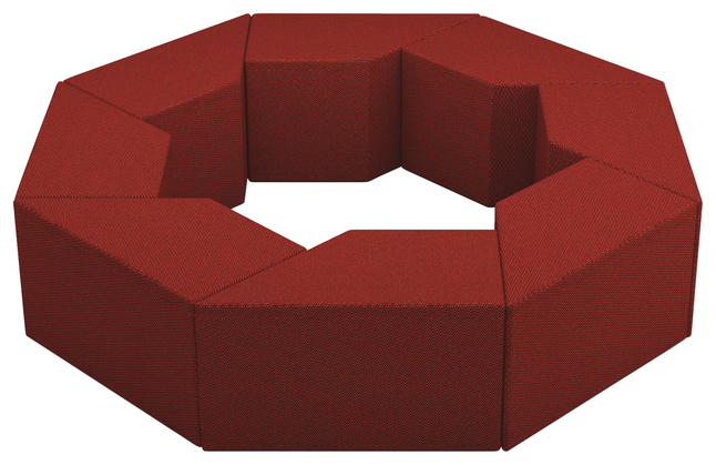 Image for Classroom Select NeoFuse Twirl 6 Piece Set, Ottomans, 18 W x 76-1/2 D x 76 H Inches, Various Options from School Specialty