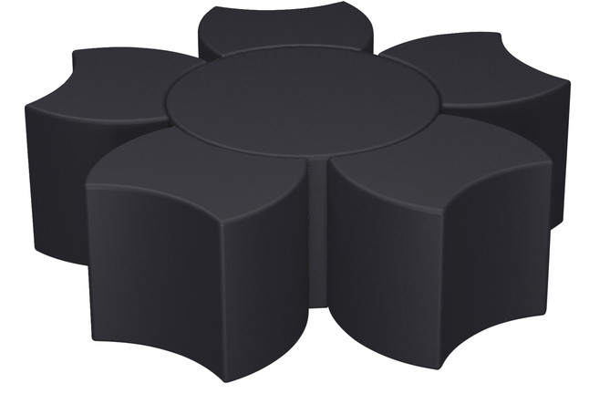 Image for Classroom Select Soft Seating NeoLounge Set, 5 Bow Tie Ottomans and 30 Inch Center, Various Options from School Specialty