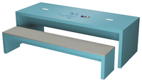 Image for Classroom Select Community Table with Markerboard and Power, 96 W x 48 D Inches, Various Options from School Specialty