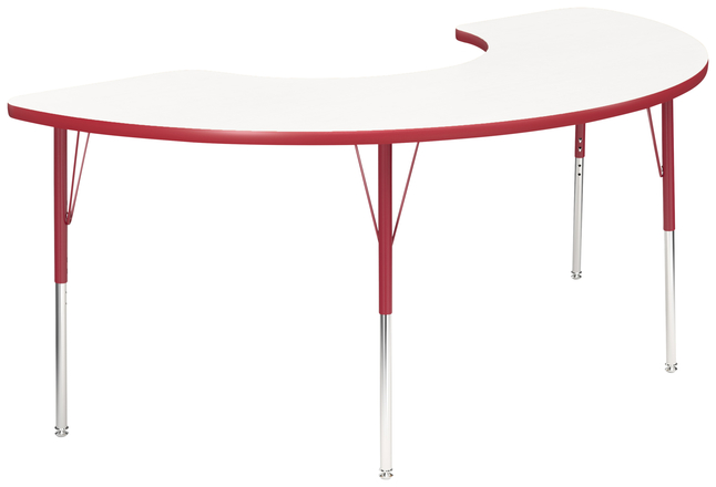 Image for Classroom Select Activity Table, Adjustable Height, Markerboard, LockEdge, Half Moon, 36 x 72 Inches, Various Options. from School Specialty