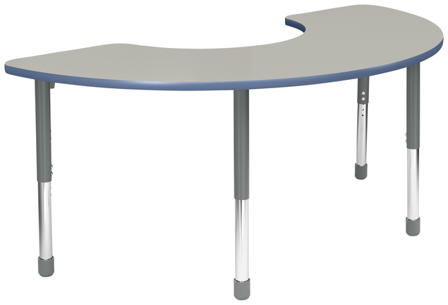 Image for Classroom Select Apollo Activity Table, Adjustable Height, T-Mold, Half Moon, 36 x 72 Inches, Various Options from School Specialty