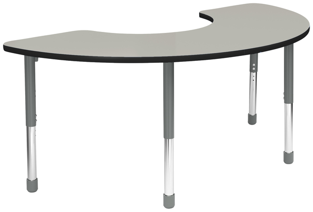 Image for Classroom Select Apollo Activity Table, Adjustable Height, LockEdge, Half Moon, 36 x 72 Inches, Various Options from School Specialty