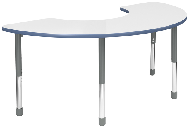Image for Classroom Select Apollo Activity Table, Adjustable Height, T-Mold, Markerboard, Half Moon, 36 x 72 Inches, Various Options from School Specialty