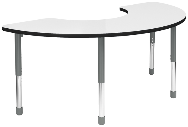 Image for Classroom Select Apollo Activity Table, Adjustable Height, Markerboard, LockEdge, Half Moon, 36 x 72 Inches, Various Options from School Specialty
