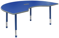 Image for Classroom Select Apollo Activity Table with Power, Adjustable Height, LockEdge, Kidney, 48 x 72 Inches, Various Options from School Specialty