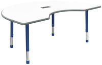 Image for Classroom Select Apollo Activity Table w/Power, Adj. Height, Markerboard, LockEdge, Kidney, 48 x 72 Inches, Various Options from School Specialty