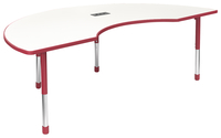 Image for Classroom Select Apollo Activity Table with Power, Adj. Height, Markerboard, T-Mold, Kidney, 48 x 72 Inches, Various Options from School Specialty