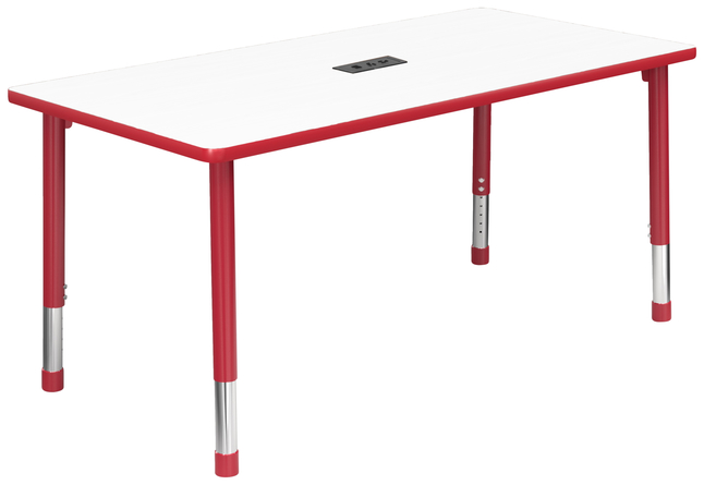 Image for Classroom Select Apollo Activity Table with Power, Adj. Height, Markerboard, T-Mold, Rectangle, 30x60 Inches, Various Options from School Specialty