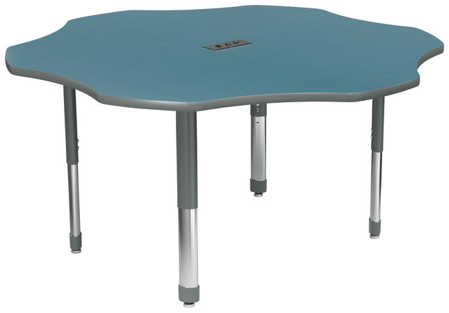 Image for Classroom Select Laminate NeoClass Leg Activity Table with Power, T-Mold, Flower, 60 Inches, Various Options from School Specialty