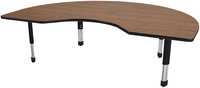 Image for Classroom Select Laminate NeoClass Leg Activity Table with Power, T-Mold, Kidney, 48 x 72 Inches, Various Options from School Specialty
