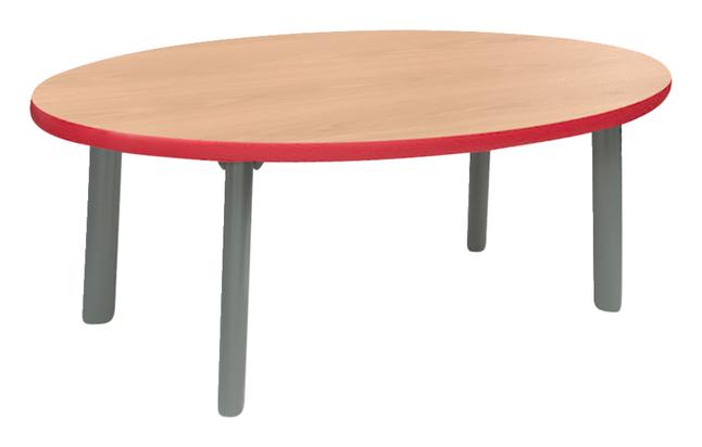 Image for Classroom Select Coffee Table, 36 W X 18 D Inched Oval, Markerboard Top, Titanium Base, Various Options from School Specialty