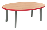 Image for Classroom Select Coffee Table, 48 W X 24 D Inches Oval Top, Titanium Base, Various Options from School Specialty