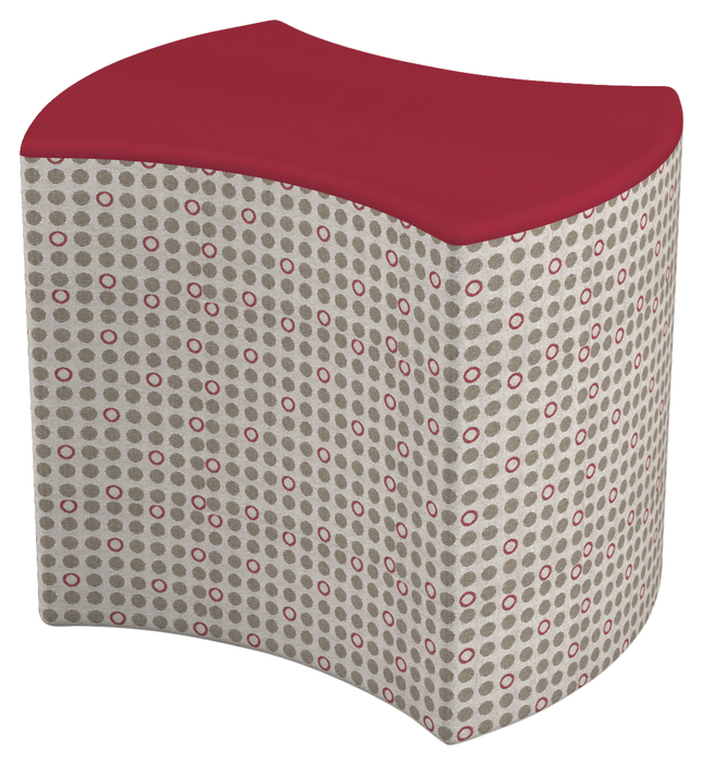 Image for Classroom Select Single Bow Tie Ottoman, 2 Color, 18 W x 21 D x 16-1/4 H Inches, Various Options from School Specialty