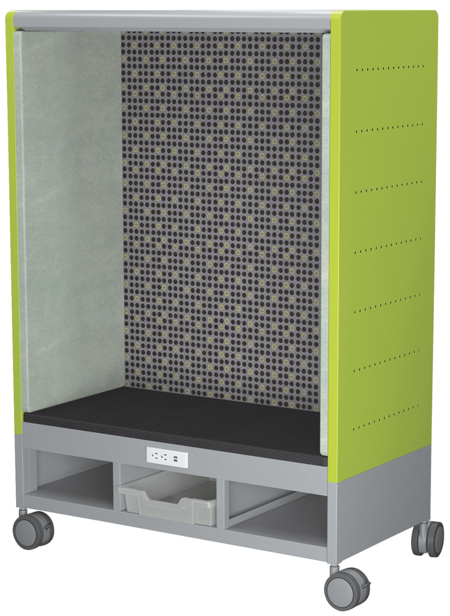 Image for Classroom Select Mini Geode Den with Power and Casters, 2 Colors, 41 W x 19-1/4 D x 59-1/2 H Inches, Various Options from School Specialty