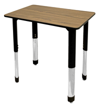 Image for Classroom Select Traditional Study Top Desk, 20x26 Rectangle Laminate Top, Black T-Mold Edge, NeoClass Legs, Various Options from School Specialty