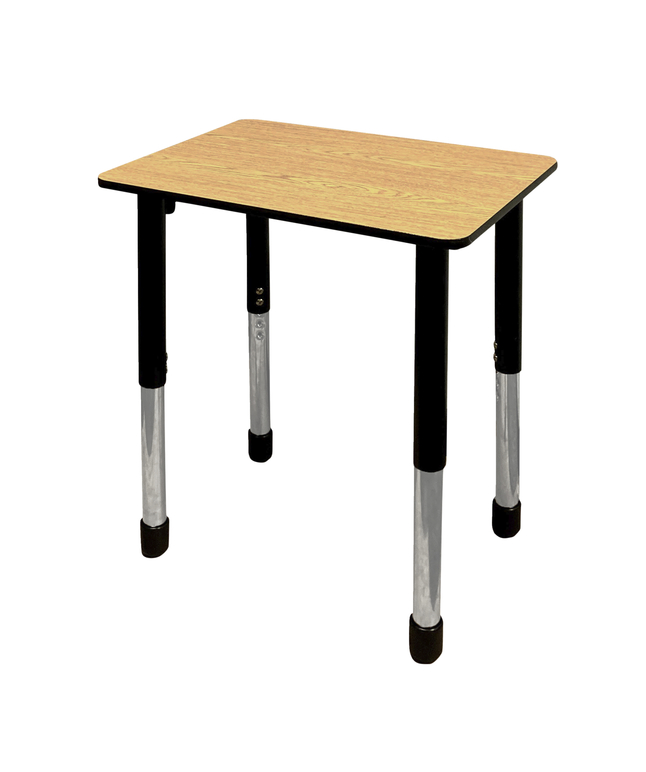Image for Classroom Select Traditional Study Top Desk, 20x30 Rectangle Laminate Top, Black T-Mold Edge, Apollo Legs, Various Options from School Specialty