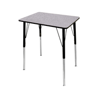 Image for Classroom Select Traditional Study Top Desk, 20x26 Rectangle Laminate Top, Black T-Mold Edge, Standard Legs, Various Options from School Specialty