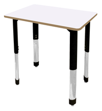 Image for Classroom Select Traditional Study Top Desk, 20x26 Rectangle Markerboard Top, NeoClass Legs from School Specialty