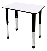 Image for Classroom Select Traditional Study Top Desk, 20x26 Rectangle Markerboard Top, Black T-Mold Edge, NeoClass Legs from School Specialty