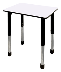 Image for Classroom Select Traditional Study Top Desk, 20x26 Rectangle Markerboard Top, Black T-Mold Edge, Apollo Legs from School Specialty