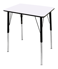 Image for Classroom Select Traditional Study Top Desk, 20x26 Rectangle Markerboard Top, Black T-Mold Edge, Standard Legs from School Specialty