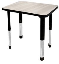 Image for Classroom Select NeoShape Activity Desk, 20x26 Rectangle Laminate Top, Black T-Mold Edge, NeoClass Legs, Various Options from School Specialty