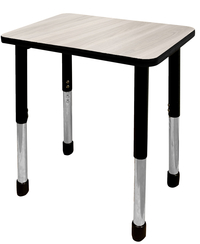 Image for Classroom Select NeoShape Activity Desk, 20x26 Rectangle Laminate Top, Black T-Mold Edge, Apollo Legs, Various Options from SSIB2BStore