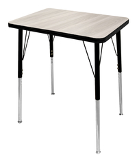 Image for Classroom Select NeoShape Activity Desk, 20x26 Rectangle Laminate Top, Black T-Mold Edge, Standard Legs, Various Options from School Specialty