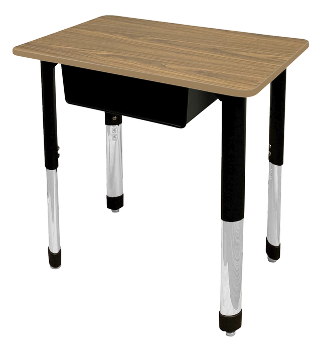Image for Classroom Select Traditional Study Top Desk, 20x30 Rectangle Laminate Top, NeoClass Legs, Various Options from School Specialty