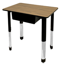 Image for Classroom Select Traditional Study Top Desk, 20x30 Rectangle Laminate Top, Black T-Mold Edge, NeoClass Legs, Various Options from School Specialty