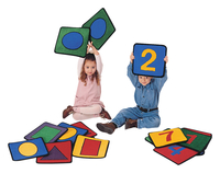 Carpets for Kids Shapes and Numbers Carpet Squares, 12 Inches, Set of 20 Item Number 520720